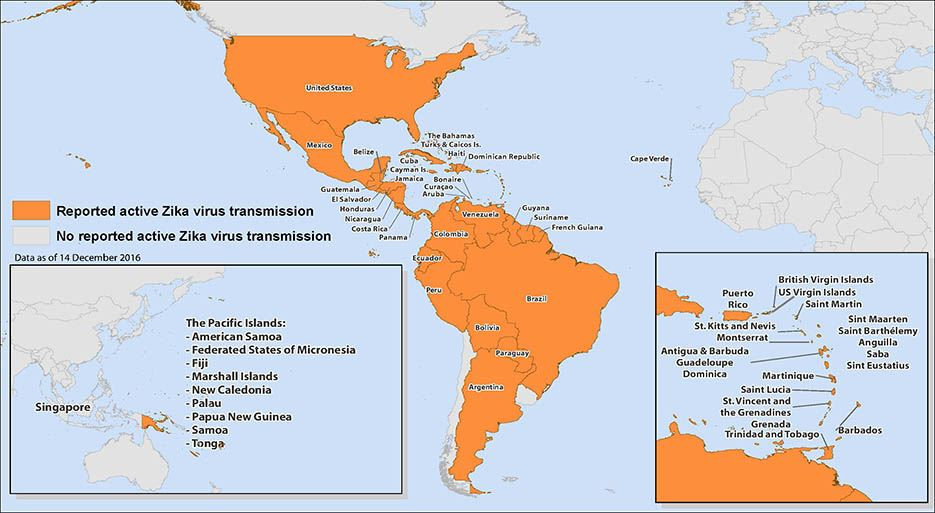 map of zika
