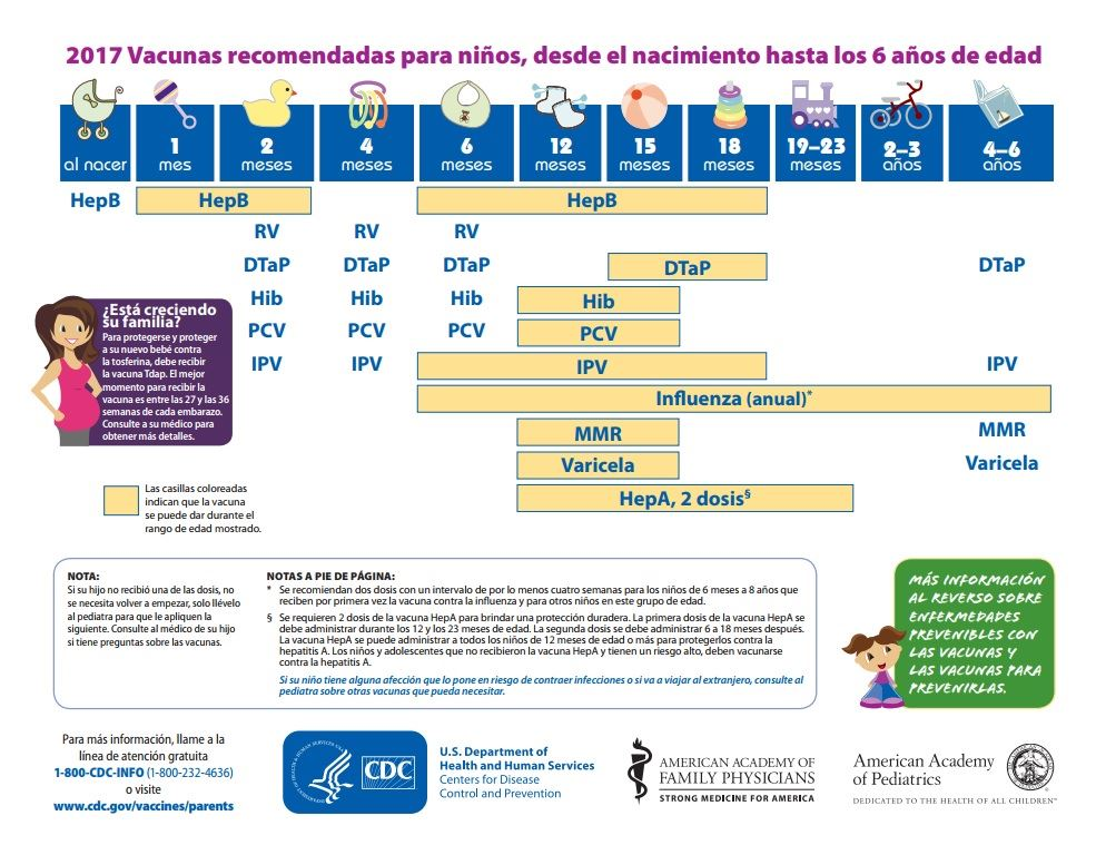 2017 Immunization Schedule__Spanish